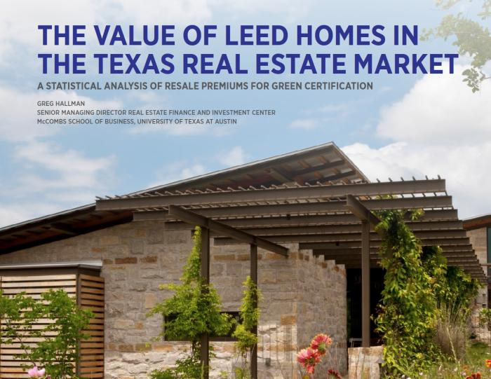 Study Finds Green Homes in Texas Show Increase in Value by $25,000