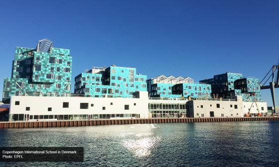 Danish school has installed the world's largest solar facade