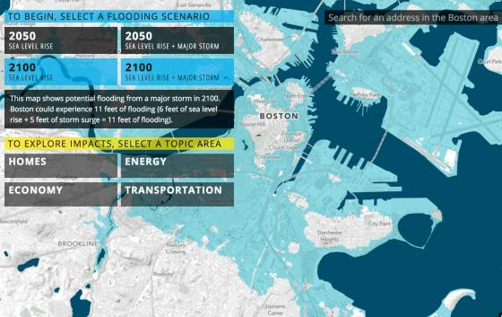 Wow, Check out this Sea Change Map of Boston in 2050 and 2100