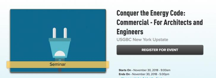 USGBC New York Upstate: Conquer the Energy Code: Commercial - For Architects and Engineers, Nov 30, East Syracuse, NY