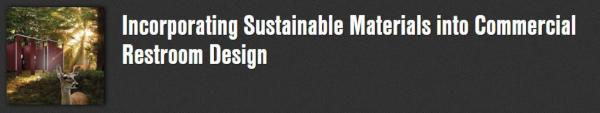 Incorporating Sustainable Materials