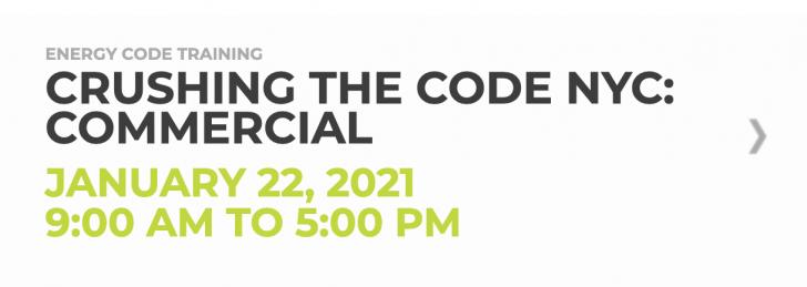 Online Course: Crushing the Code NYC: Commercial, January 22, 9am - 5pm EDT
