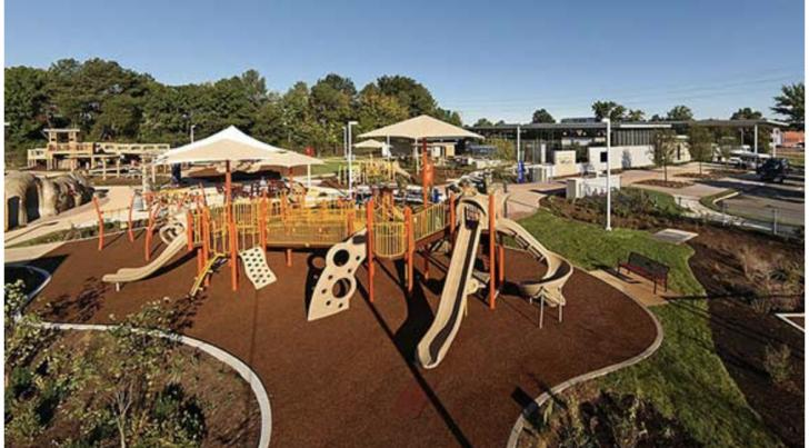 Livable Public Play Spaces that Integrate Natural Systems