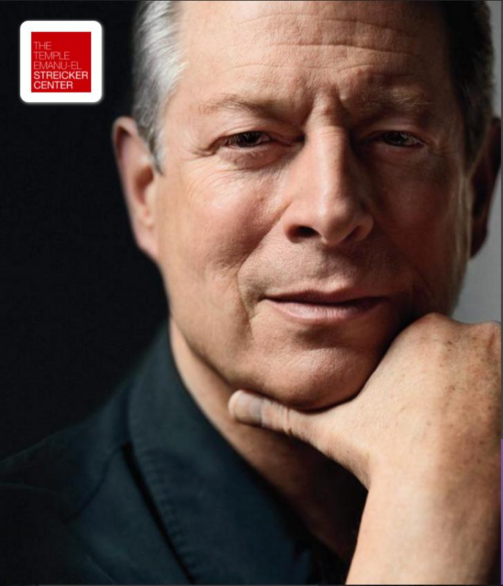 An Evening with Vice President Al Gore, Temple Emanu-El Streicker Center, Wednesday February 22, NY, NY