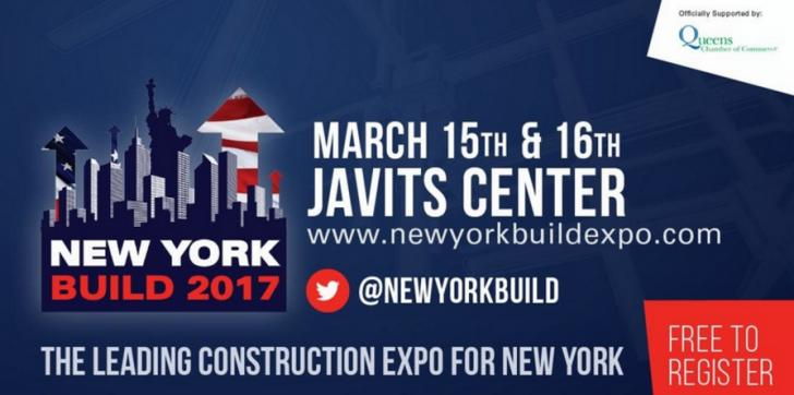 New York Build Expo 2017 - March 15th & 16th at Javits Center - Free event