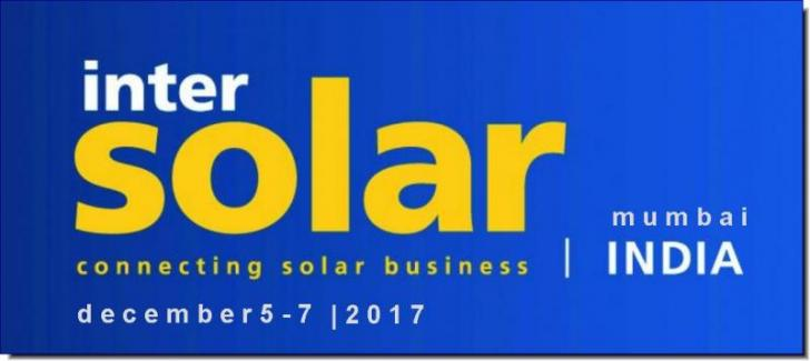 Intersolar Exhibition & Conference India, Dec 5 – 7, Mumbai, India