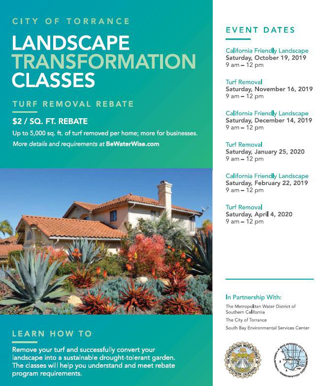 California Friendly Landscape Class SBES Torrance California