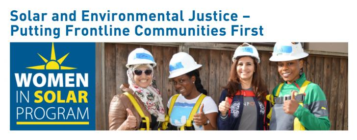 Webinar: Solar and Environmental Justice – Putting Frontline Communities First, July 26, 11 am PST