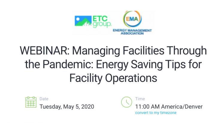 Managing Facilities Through the Pandemic: Energy Saving Tips for Facility Operations
