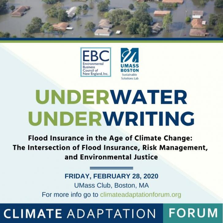 Flood insurance, UMass Boston, Underwriting, Climate Adaptation