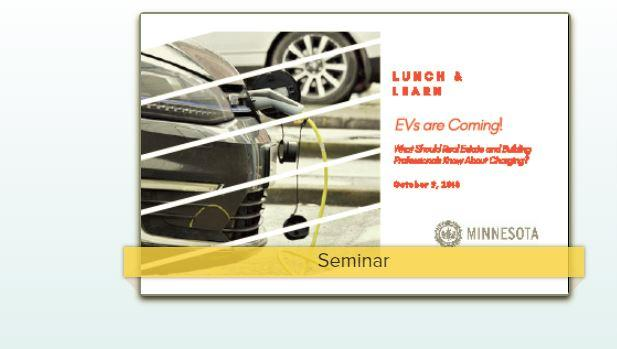 Lunch and Learn: Electric Vehicles are Coming