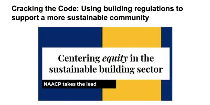 Cracking the Code: Using building regulations to support a more sustainable community