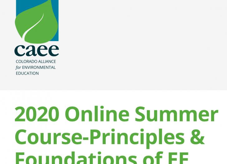 Principles and Foundations of Environmental Education, Summer Online Course,  June 1 - August 9, 2020