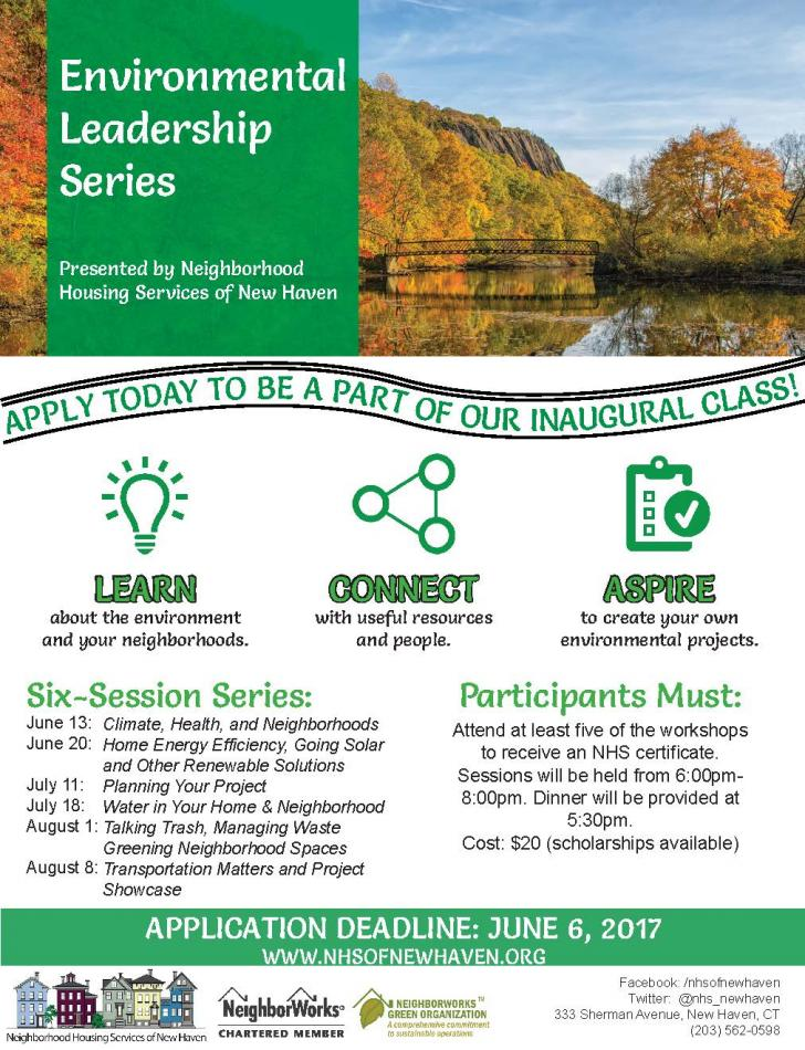Neighborhood Housing Services of New Haven Environmental Leadership Program June 13th - August 8th