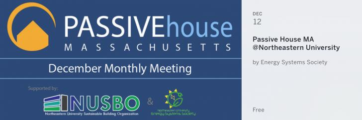 Passive House Massachusetts December 2017 Meeting at Northeastern