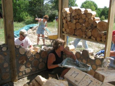 Three Day Cordwood Masonry, Aug 31- Sept 2, West Chazy, New York