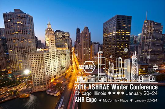 ASHRAE Winter Conference & AHR Expo,  January 20-24, Chicago