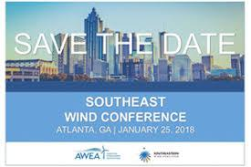 Southeast Wind Conference 2018,  Jan 25, Atlanta, Georgia