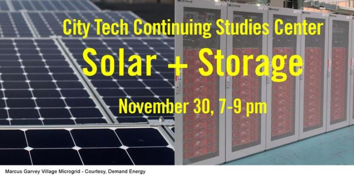 Solar + Storage + Microgrid, 11/30, New York