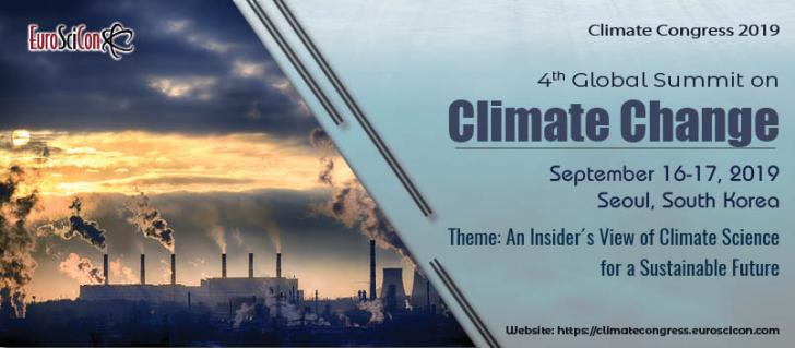 4th Global Summit on Climate Change, September 16-17, Seoul