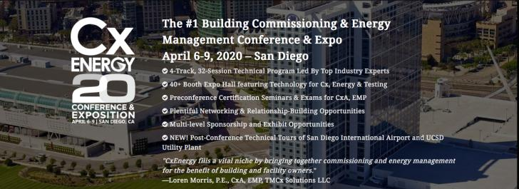 7th Annual CxEnergy Conference & Expo, April 6-9, San Diego