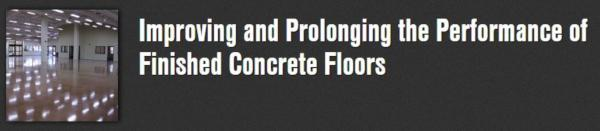Improving Finished Concrete Floors