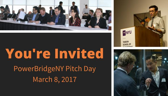 PowerBridgeNY Cycle 4 Pitch Day (3/8 @ 9:30-6pm @ 64 Morningside Dr., NYC)
