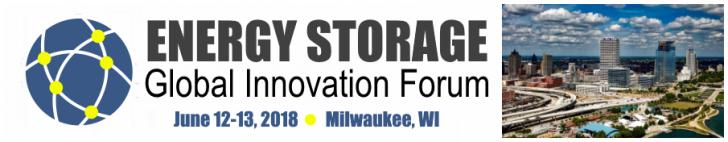 Energy Storage Global Innovation Forum, June 12-13, Milwaukee, WI