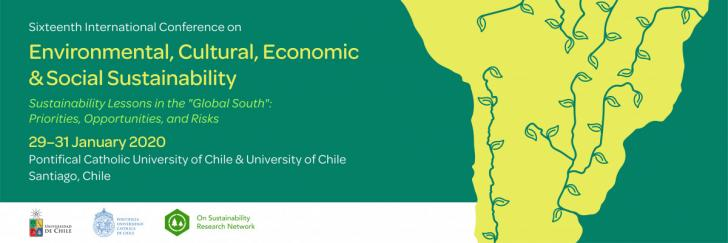 Sixteenth International Conference on Environmental, Cultural, Economic & Social Sustainability, January 29-31, Santiago Chili