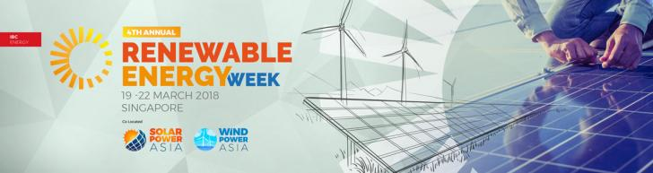 4th Renewable Energy Week, Mar 19 - 22, Singapore