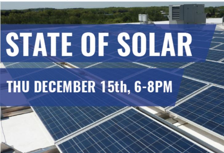 The State of Solar in Massachusetts, 12/15 - 6-8 pm, Boston