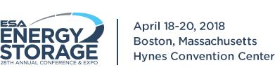 Energy Storage Association's 28th Annual Conference and Expo, April 18-20, Boston, MA