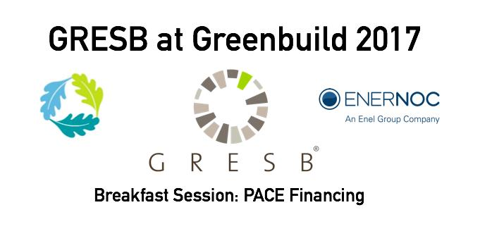 GRESB at Greenbuild: PACE Financing Breakfast Session, Nov 7, 7:30 am - 8:45 am, Boston